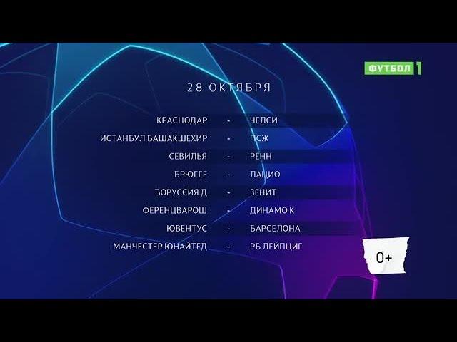Лига чемпионов. Обзор матчей 28.10.2020