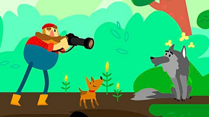Мы идём по лесу - Волк, Лось, Еж и Рысь, Соловей, Лягушка / Мультики про животных