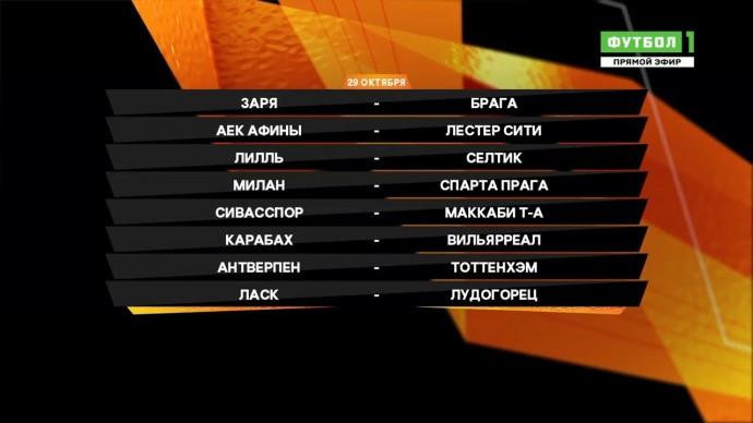 Лига Европы. Обзор матчей 29.10.2020