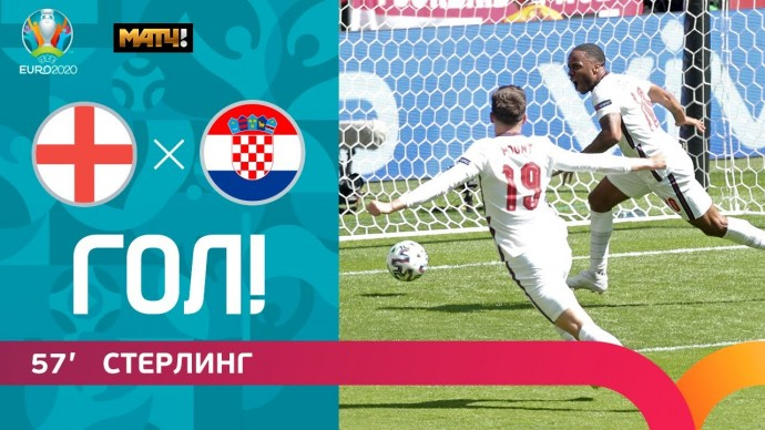 13.06.2021 Англия – Хорватия. Гол Рахима Стерлинга. ЕВРО-2020