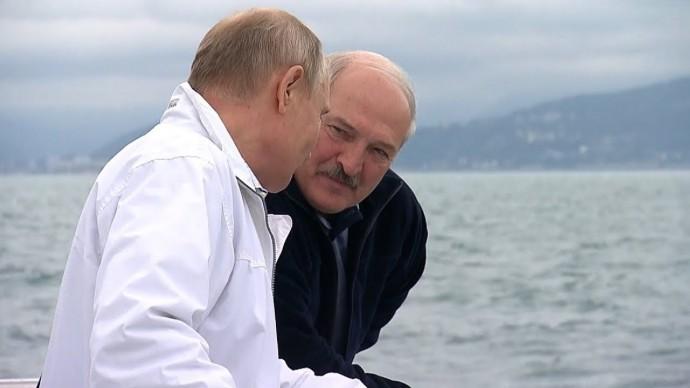 Полная версия. Лукашенко и Путин на морской прогулке в Сочи