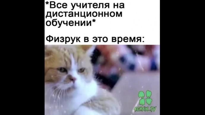 Мем про физрука на карантине)
