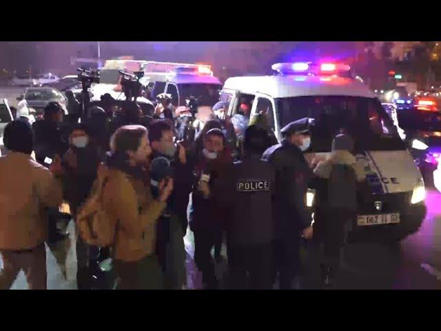 Акция протеста в центре Еревана — видео