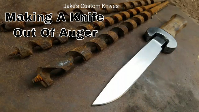 Forging A Knife From Auger Drill Bit
