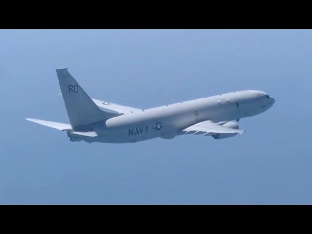 Перехват российским истребителем самолёта-разведчика США над Чёрным морем — видео