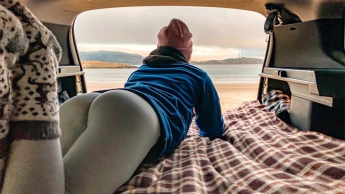 Кольский полуостров. Териберка. Жаркая ночь в машине на берегу океана #7