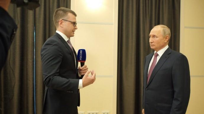 Путин впервые оценил ситуацию в Карабахе. Интервью Владимира Путина телеканалу «Россия»