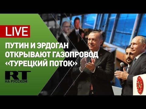 Путин и Эрдоган участвуют в церемонии открытия газопровода «Турецкий поток» — LIVE