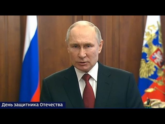 Путин поздравил россиян с 23 февраля