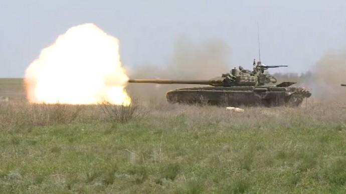 Морская пехота и танковый биатлон: как в ЮВО продолжаются военные учения