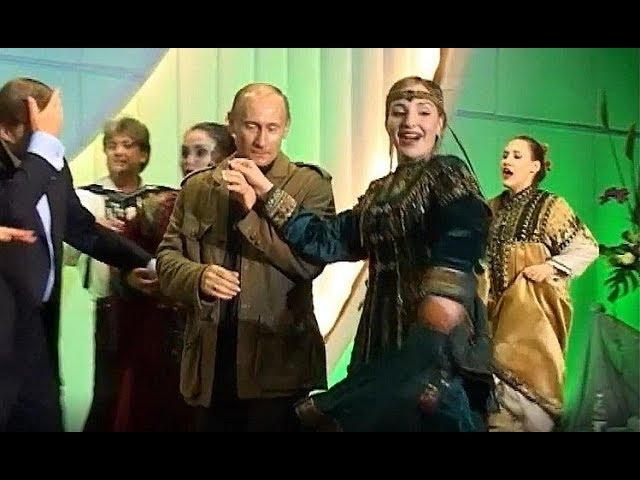 Верхний брейк от Буша-младшего, Путин целует руку партнёрше: видео танцев лидеров России и США