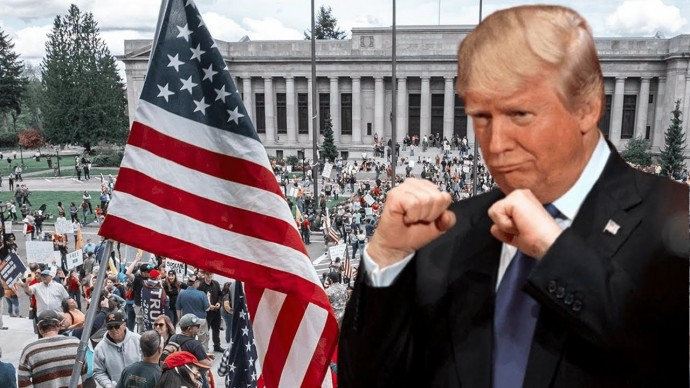 Первые столкновения сторонников и противников Трампа начались в Вашингтоне