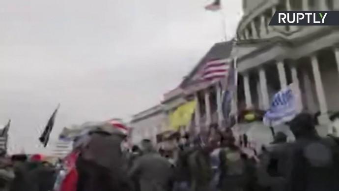 Массовые беспорядки сторонников Трампа у здания конгресса — LIVE