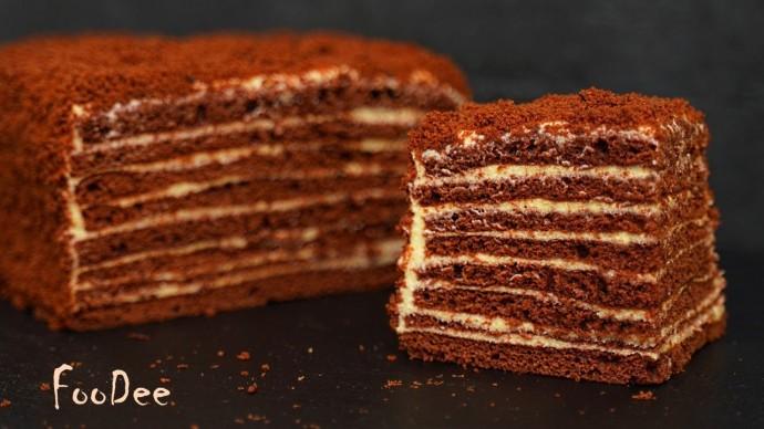 Шоколадный медовик – Торт Спартак всего за 40 минут самым быстрым способом!