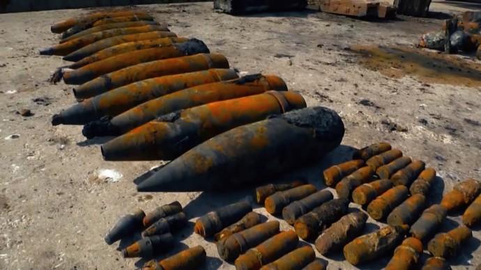 В Крыму с затонувшего в 1942 году теплохода подняли 18 тыс. боеприпасов