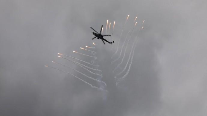 Динамический показ современной боевой авиации