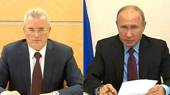 Задержанный за взятки Белозерцев докладывает Путину об успехах Пензенской области