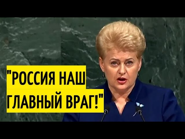 Бывший президент Литвы устроила в ООН антироссийскую истерию!