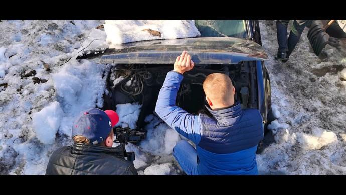 BMW гаражного хранения и два подснежника. Поиск проекта.