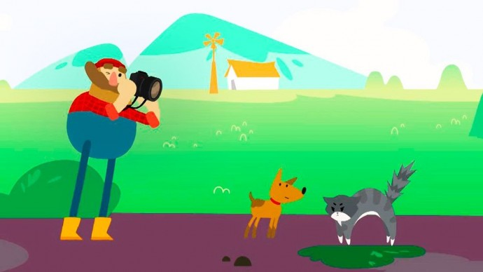 Мы идём по лесу - Корова, Утка, Кошка и Лиса, Дятел, Бобёр / Мультики про животных