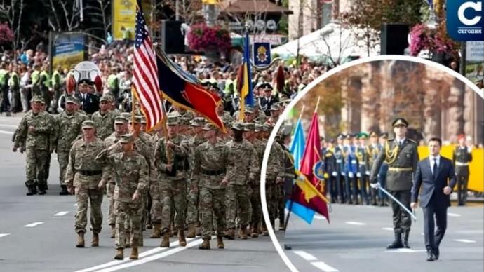 Проход войск НАТО в Киеве! День Независимости Украины 2021