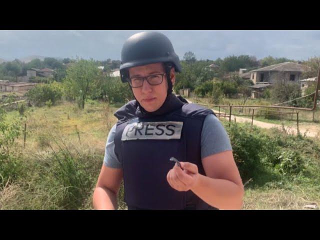 «Осколок снаряда ещё тёплый»: репортаж корреспондента RT из Нагорного Карабаха