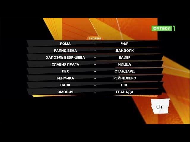Лига Европы. Обзор матчей 05.11.2020