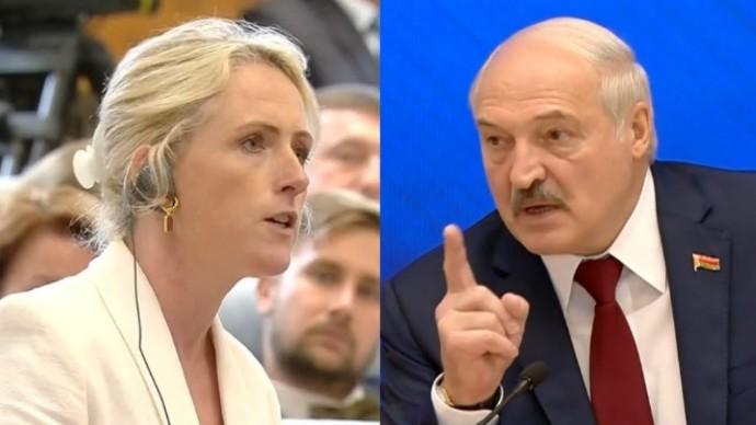 Запад в ШОКЕ! Лукашенко УНИЧТОЖИЛ американскую провокаторшу!