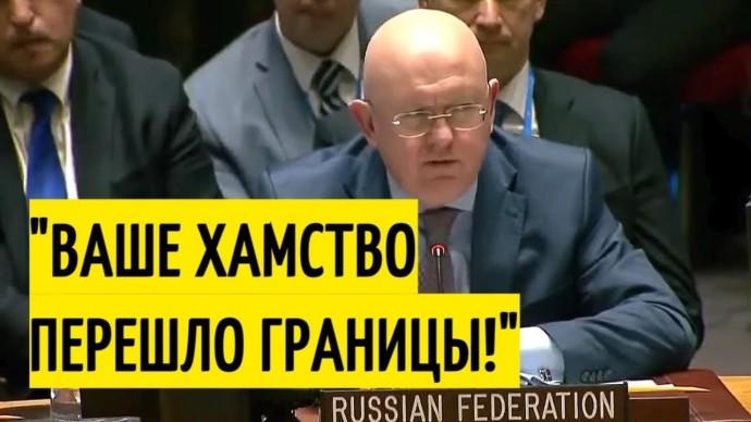 Срочно! Заявление Небензи ОШЕЛОМИЛО представителей Совбеза ООН!