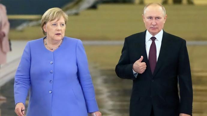 Путин и Меркель обсудили Донбасс, Афганистан и Сирию
