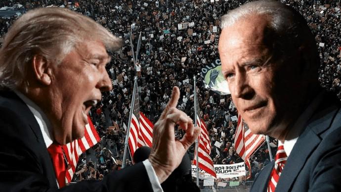 Первые потасовки между сторонниками Байдена и Трампа в Мичигане