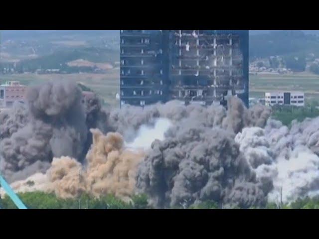 Гостелевидение КНДР показало подрыв здания офиса связи Севера и Юга