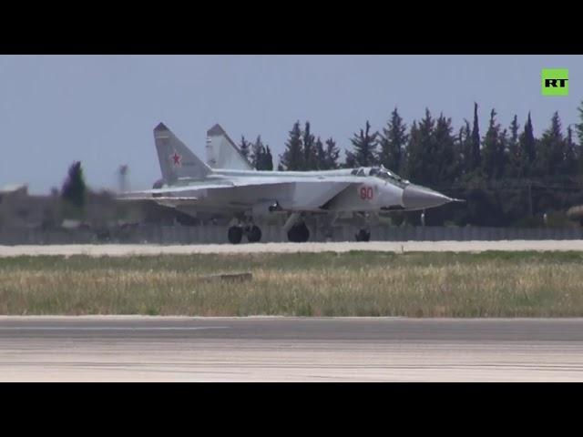 Оснащены гиперзвуковыми «Кинжалами»: полёты истребителей МиГ-31К, впервые переброшенных в Сирию