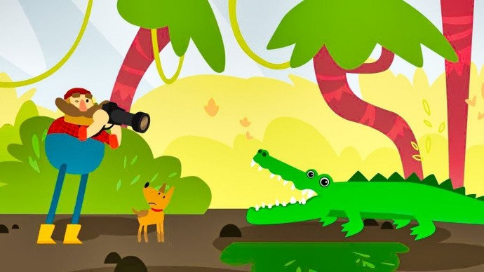 Мы идём по лесу - Баран Кролик Индюк и Крокодил Тукан Ленивец / Мультики про животных