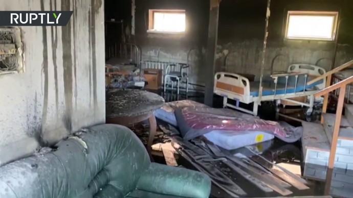 Последствия пожара в красногорском хосписе — кадры из палаты