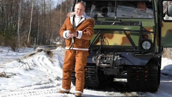 Путин и Шойгу на отдыхе в сибирской тайге