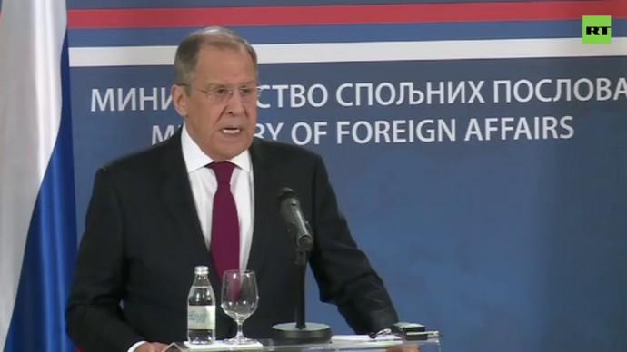 Церемония подписания и совместный выход к прессе глав МИД РФ и Сербии — LIVE