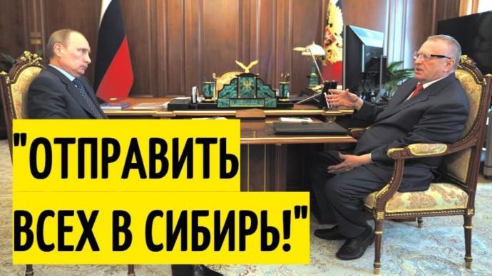 Жириновский ОШАРАШИЛ Путина своим предложением!