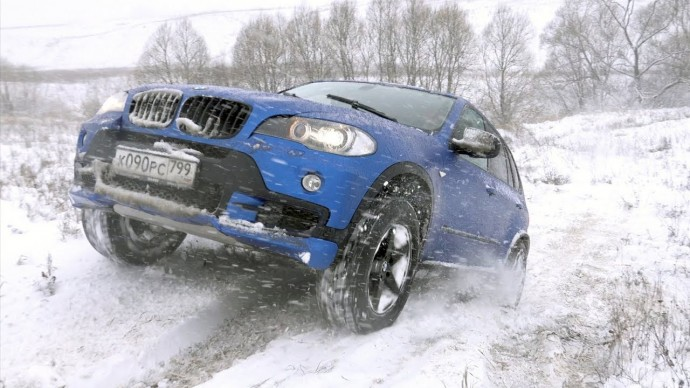 Подготовленный BMW X5 против всех - зимний оффроад с подписчиками!