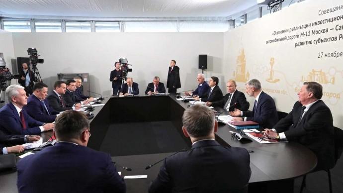 В РФ ничего подобного не было. Путин на совещании по реализации проекта строительства трассы М11