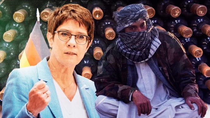 Германия в первую очередь вывезла из Афганистана 22,5 тыс. литров спиртного