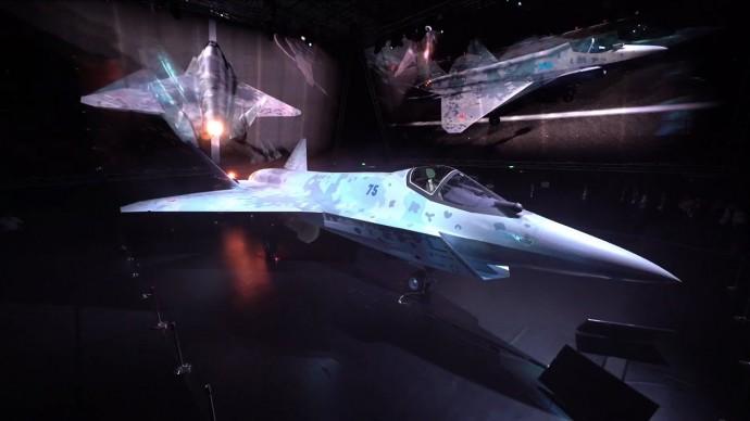 """Презентация Су-75 """"Шах и мат"""" (Checkmate) на МАКС-2021. Истребитель 5 поколения (Без лагов)"""
