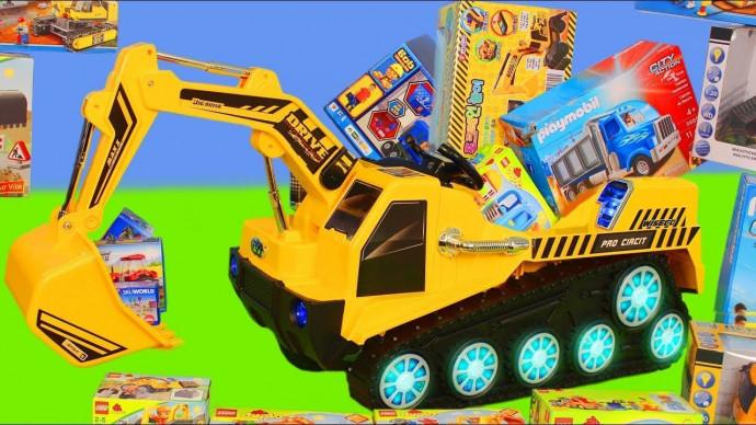 Pelleteuse, camion , truck & grue chantier jouets de construction Excavator Toys