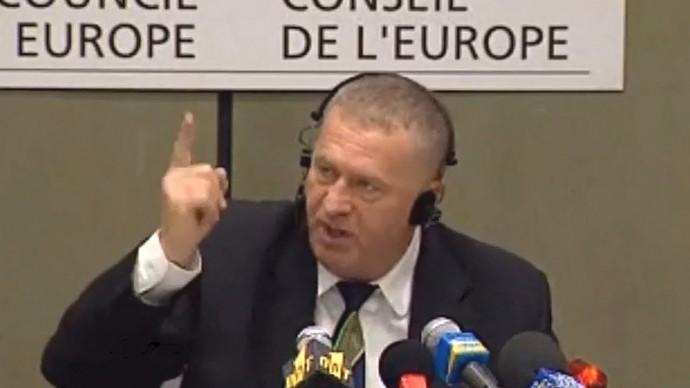 Скандальная речь Жириновского в Совете Европы 1999 г.