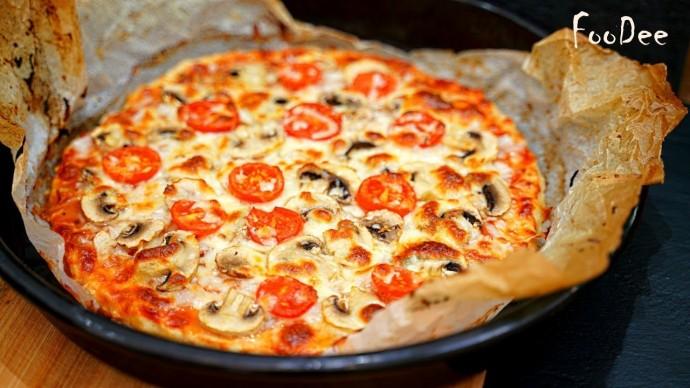 Пицца БЕЗ теста за 5 минут Вашего времени! Быстрый, простой и очень вкусный ужин