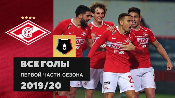Все голы ФК «Спартак» в первой части сезона РПЛ 2019/20