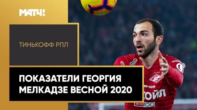 Показатели Георгия Мелкадзе весной 2020