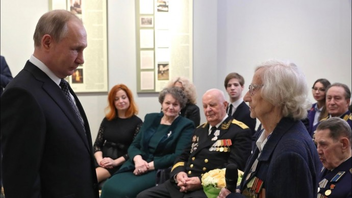 Владимир Путин встретился с ветеранами ВОВ и представителями патриотических объединений
