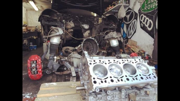 Блок вернулся как новый! Убитый Porsche Turbo S своими руками. Монстр 11.