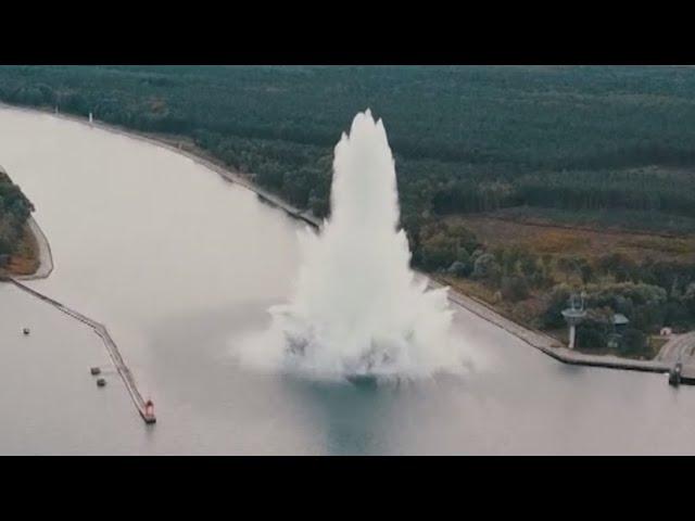 В Польше бомба «Верзила» времён Второй мировой взорвалась под водой при разминировании